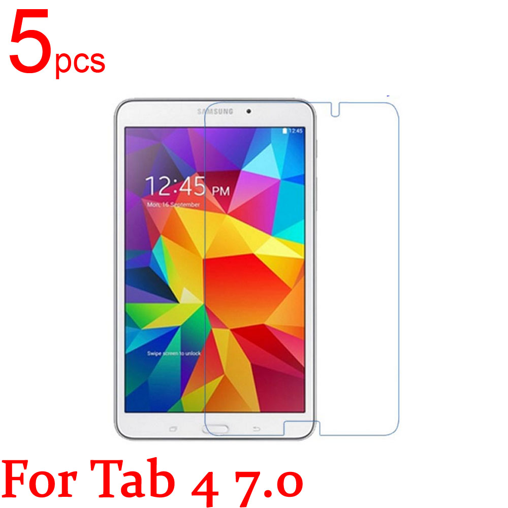 5pcs Clear/Matte/Nano <font><b>LCD</b></font> Tablet Screen Protectors Cover for <font><b>Samsung</b></font> TAB 3 4 7.0 T210 <font><b>T211</b></font> p3200 p3210 T230 T231 T235 Film+Cloth image