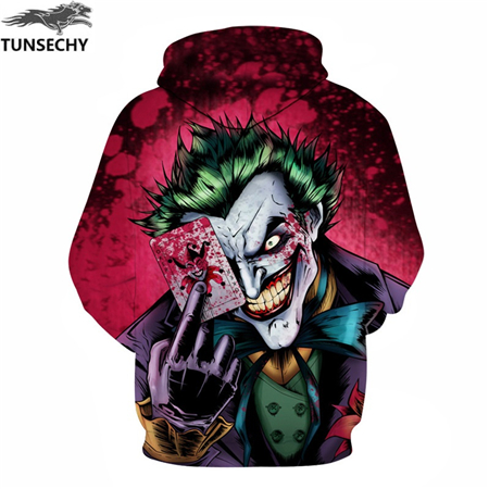 shop Joker Print Men/Women 3D Sweatshirts Print Milk Space Galaxy Hooded Hoodies Unisex with crypto, pay with bitcoin