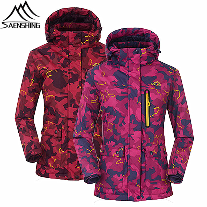 все цены на Saenshing New Ski Jacket Women Snowboard Snow Jacket Waterproof 10K Warm Winter Skiing Jackets Breathable Durable Outdoor Coats
