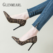 Women High Heels Shoes Female Pumps Brand Summer Sexy Leopard Pointed Toe Wedding Shoes Thin Heels Casual Shoe Plus Size 2019 patent leather high heels red sexy women shoes pointed toe thin heels shoes woman pink black silver female shoe size 40 ds a0146