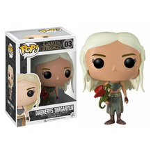 Funko POP Song Of Ice And Fire Game Of Thrones Daenerys Targaryen Tindakan Sosok Koleksi Model Mainan untuk Anak Ulang Tahun hadiah(China)