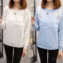Maternity Tops Casual Nursing Sweatshirt Winter Spring Breastfeeding Clothes Embroidery T-Shirt for Pregnant Women