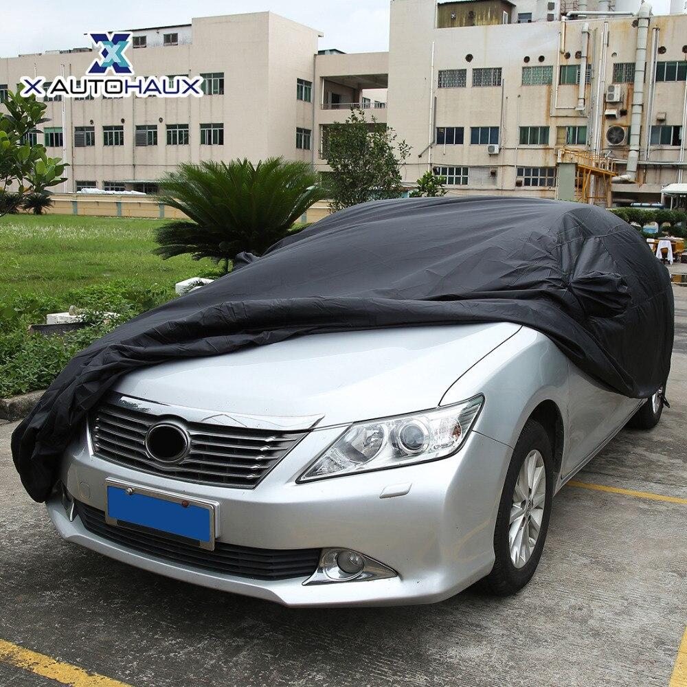 X Autohaux 490*180*160 cm 3XL noir respirant extérieur étanche à la poussière pluie neige Anti UV chaleur bâche de voiture extérieur bâches de voiture - 2