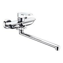 Смеситель для ванны WasserKRAFT Dinkel 5802L (Керамический картридж, встроенный аэратор, латунь, хромоникелевое покрытие)