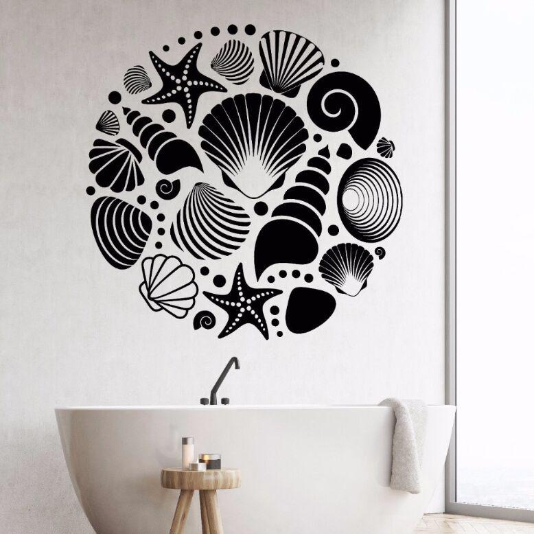 Bathroom Decor Ocean Sea Seashells Wall