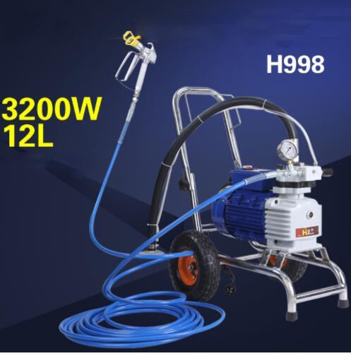 632 41 Haute Pression Airless Pulvérisation Machine Peinture Pulvérisateur Peinture Mastic Pistolet Peinture Revêtement Machine H998 H989 H979 H999