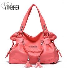 Women Bag Designer New Fashion Casual axelväska Lyxiga kvinnor handväskor kvalitet PU Brand tofs koreanska Stil stor kapacitet