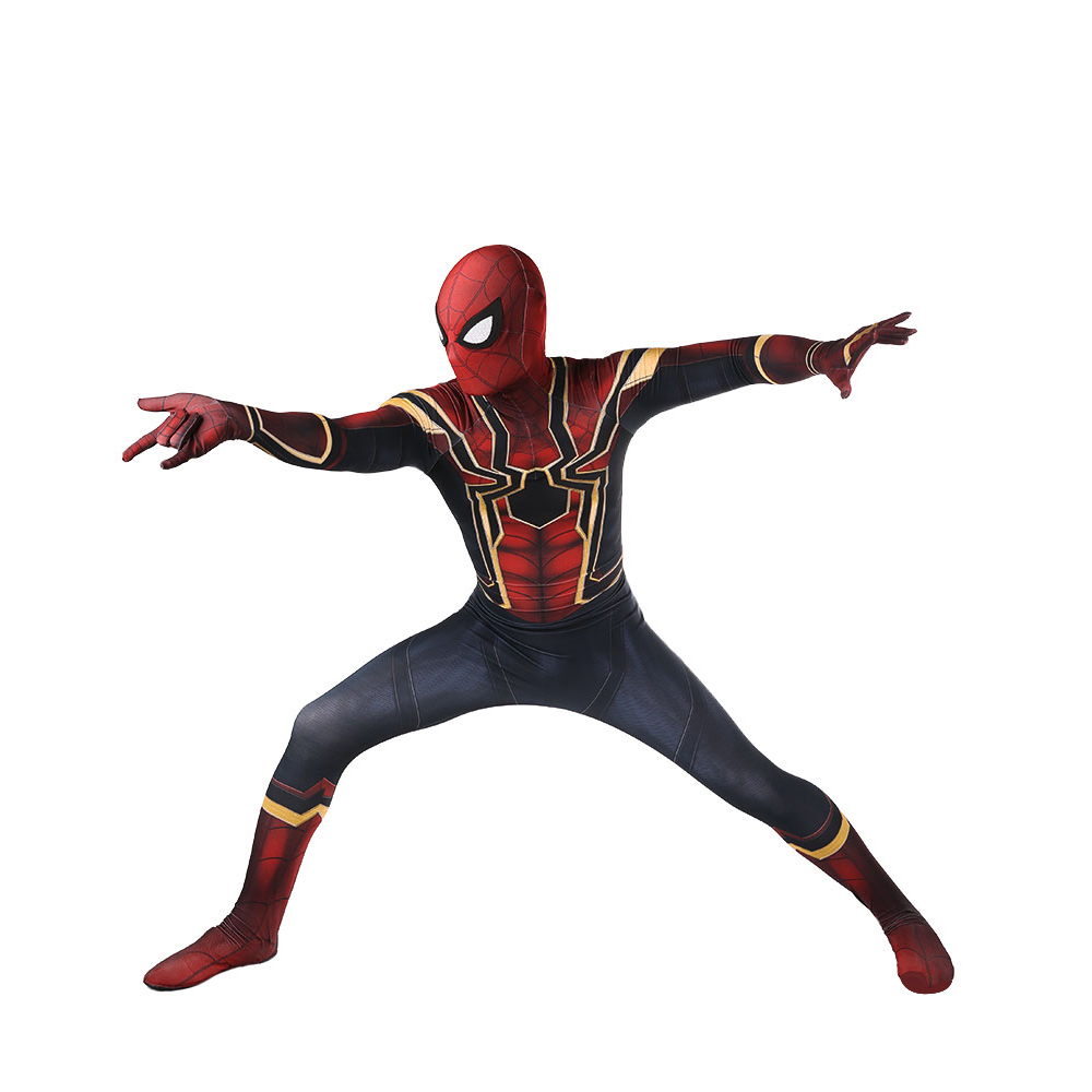 2018 Free shipping Avengers COS Spiderman Homecoming Cosplay Costume Anime Full Bodysuit for Halloween party for kids and adult