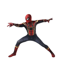2018 Free shipping Avengers COS Spiderman Homecoming Cosplay Costume Anime Full Bodysuit for Halloween party kids and adult