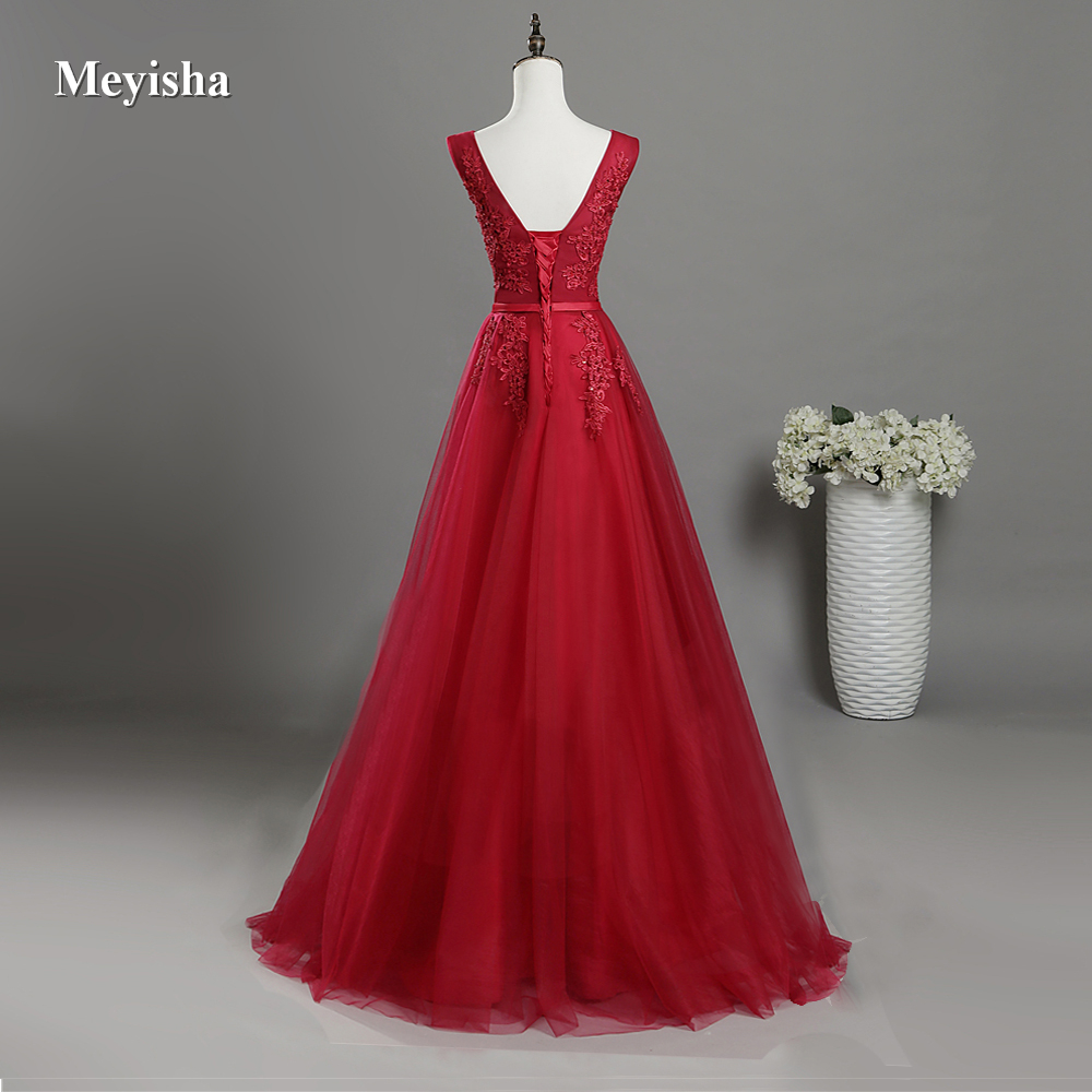 US $43.49 50% OFF|ZJ6008 V Neck Lace Beaded Navy Royal Blue Burgundy Black  Red Silver Bridesmaid Dresses Formal Party Gowns Dress Plus Size-in ...