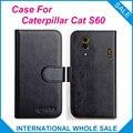 6 Colores ¡ Caliente! 2016 Caterpillar CAT S60 Caso, Caso Exclusivo Para Caterpillar CAT S60 Cubierta de Cuero de Alta Calidad Bolsa de Teléfono de Seguimiento