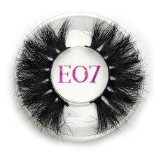 Mikiwi 25 มม.ขนตา Mink ขนตาปลอม E07 Strip หนา 25 มม.3D Mink Lashes ข้ามแต่งหน้า Dramatic ยาว 25 มม.ขนตา Mink