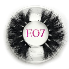 Mikiwi 25mm Mink Lashes False Eyelashes E07 Thick Strip 25mm 3D Mink Lashes Crossing Makeup Dramatic Long 25MM Mink Lashes