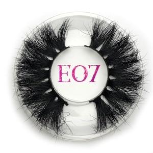 Image 1 - Mikiwi 25mm vison cílios postiços e07 tira grossa 25mm 3d vison cílios cruzamento maquiagem dramática longa 25mm vison cílios