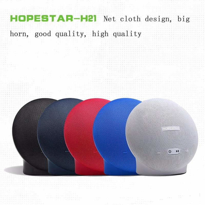 16W HOPESTAR H21 Bluetooth Speaker Wireless Heavy Bass Sound Box Loudspeaker Boombox Round Shaped Support U-Disk/Mic/Power Bank