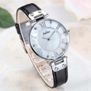 Image 5 - Lady Womens Watch Japan Quartz Hours Fine Fashion Dress Bracelet Girl Birthday Gift Leather Clock Shell Retro Julius