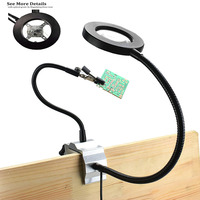 Repair table lamp 3X Magnifier Clip LED light Adjustable Multi angle Detachable Welding Flexible Helping Hands Third Arms Solde