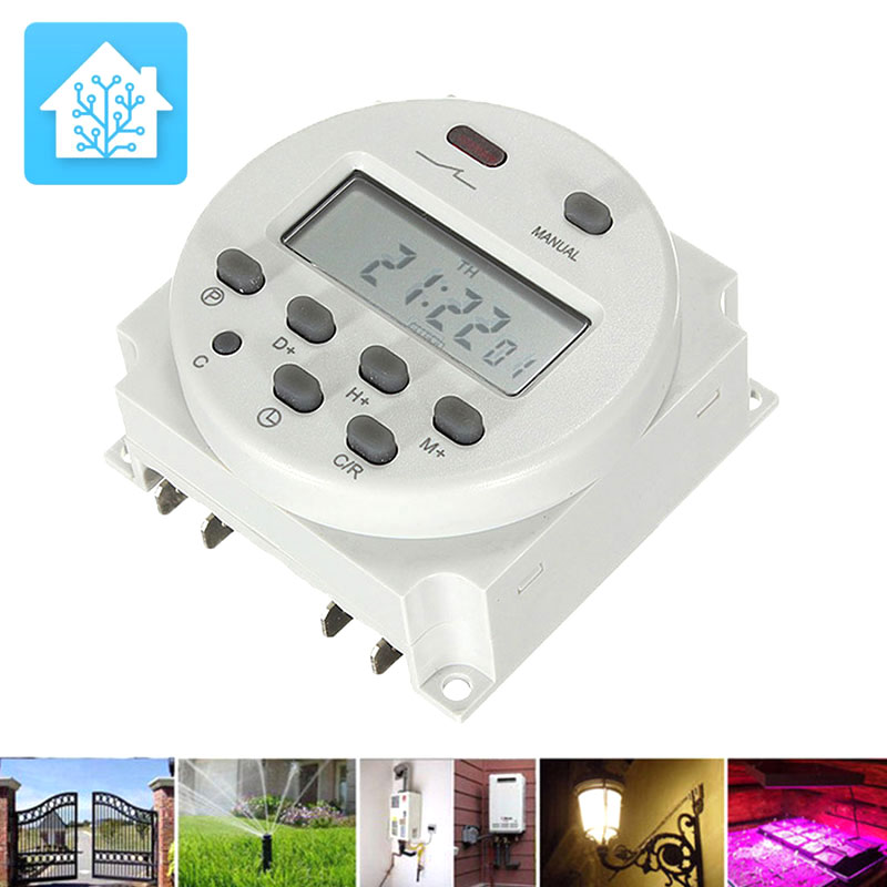 Car Battery Timer Switch Digital Timer Switch Outlet Timer Digital Outlet Switch LCD Display Turn OnOff Lights Timed Charging laser virtual keyboard