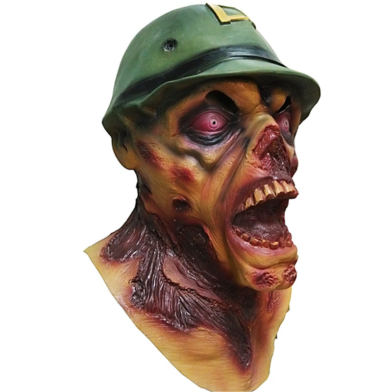 Bloody Soldier Kito The Walking Dead Mask Melting Face Adult Latex Costume Scary Halloween Easter Cosplay Party Props L2398Bloody Soldier Kito The Walking Dead Mask Melting Face Adult Latex Costume Scary Halloween Easter Cosplay Party Props L2398