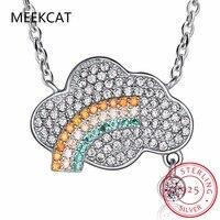 925 En Argent Sterling Perles D'imitation Nuages Raindrop Colliers et Pendentifs Pour Les Femmes Mignon Style Lady Sterling-argent-bijoux