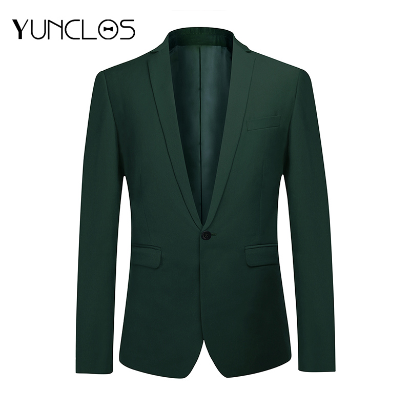 YUNCLOS Business Men's Suit Jacket Wedding Party Dress Blazer And Trousers Slim Fit Green Blazers Male Suit Blazers Jackets