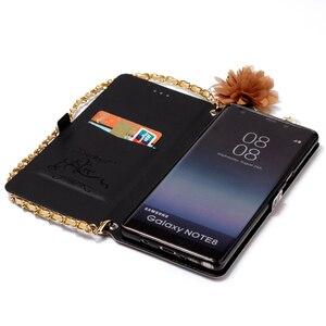 Image 5 - Chuỗi dây đeo Da Lật Wallet Điện Thoại Silicone Mềm Trường Hợp Bìa Shell Đứng đối với Samsung Galaxy A3 A5 2017 J330 J530 j730 EU Note8