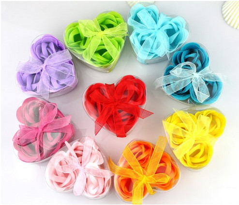 30pcs/lot Bath Body Soap Rose Petal Flower Soap Gift Party Wedding Decoration Baby Shower Favors Gifts