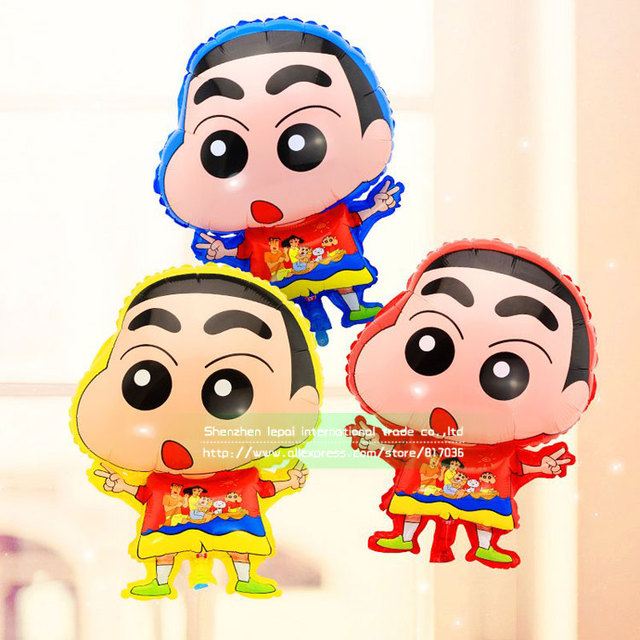 Wholesale 50pcs Bag Crayon Shin Chan Shaped Mylar Balloons Classical