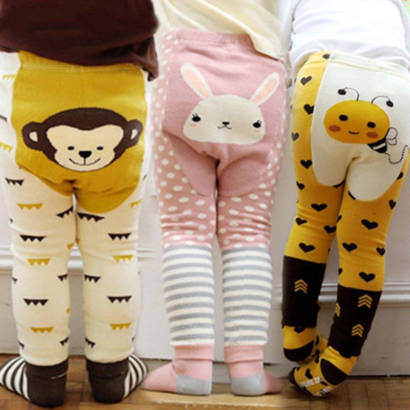 Toddler Bottoms Set Boy Girls Baby Cartoon Print Legging Warm PP Pants
