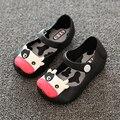 Sandálias meninas Dos Desenhos Animados Princesa Apartamentos calçados infantis meninas bota chuva geléia verão pouco vaca do bebê crianças criança crianças sapatos
