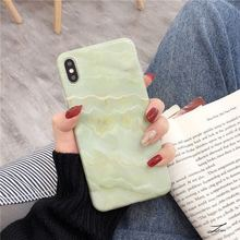Fashion Retro Marble Patterned Phone Case For iphone XS Max Back Cover 6 6s 7 8 X XR cover Glossy Soft Cases Coque