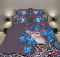 bed cover with pillow cases king size,3d Christmas deer Skill wolf housse de couette 5 size Bedding bed sets for full children