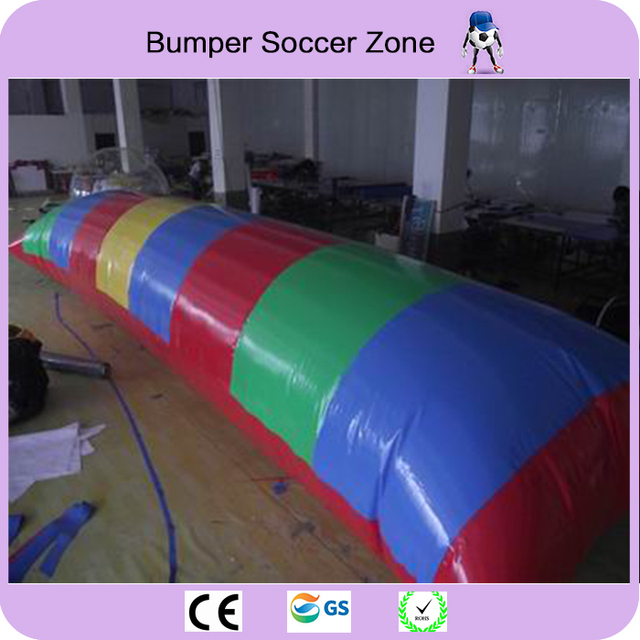 Free Shipping!8*3m 0.9mm PVC Inflatable Water Blob,Jump Pillow ,Water Blob Jumping Bag,Inflatable Water Trampoline