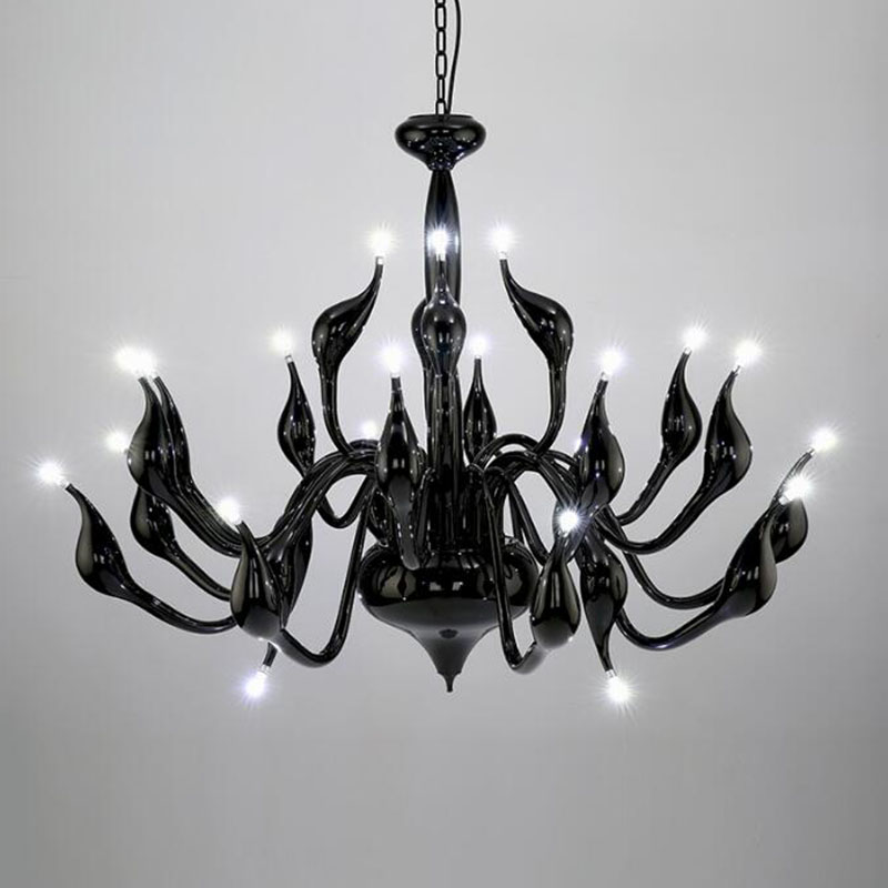 Art Deco Europese Kaars Kristal LED Zwaan Kroonluchters Plafond ...