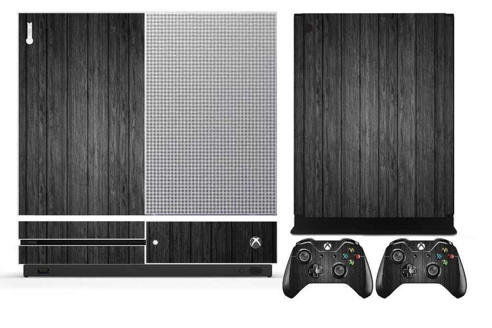 Wood 267 Vinyl Skin Sticker Protector for Microsoft Xbox One S and 2 controller skins Stickers