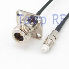 6in N самка с 4 панели отверстие для FME женский джек РФ разъем адаптера 15 СМ Косичка коаксиальный соединительный кабель RG174 удлинитель