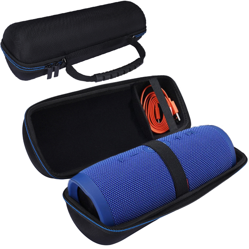 New Russia PU Travel Vacation Protection Speaker Cover Bag for JBL Charge 3 Charge3 Extra Plug and Cable (With Belt )