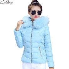 1PC Winter Jacket Women Fur Hood Cotton Padded Winter Coat Women Parka Manteau Femme Jaqueta Feminina ZZ3556