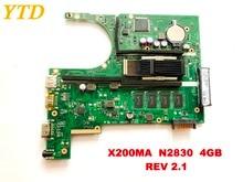 Оригинальная материнская плата для ноутбука ASUS X200MA X200MA N2830 4 GB REV 2,1 протестирована хорошая бесплатная доставка