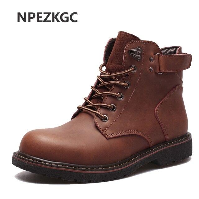 NPEZKGC botas 2018 otoño botas NPEZKGC de cuero genuino para hombre botas de f24bf6
