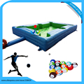 free shipping Customize inflatable snooker pool table soccer,inflatable soccer table with 16pcs ball