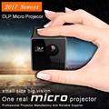 2017 Newest Mini DPL Pico Projector Full HD 1080P 3D home theatre Portable projector Support TF/USB video playback led proyector