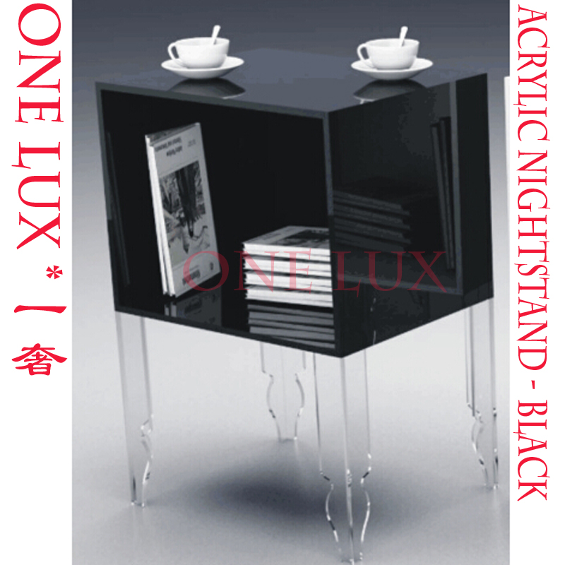 V Legged Plexiglass Bedside Magazine Tea Tables,Perspex Bedroom Cabinets,Acrylic Lucite Nightstand 4 legged