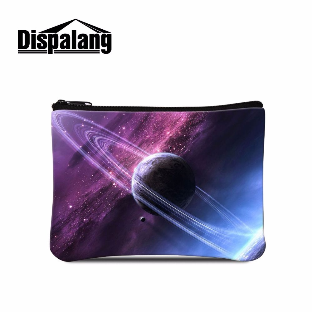 Dispalang trendy cosmetic bags with multicolor pattern makeup bag universe space star print coin bag key holder small women bags феникс водная раскраска машинки