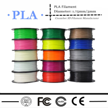 3d printer filament PLA 1.75mm 3mm 1kg/2.2lb Plastics Consumables Suitable for Createbot/ MakerBot/RepRap/UP
