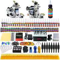 Solong Tattoo Top Selling Complete Tattoo Kit 2 Pro Machine Guns 54 Inks Power Supply Needle
