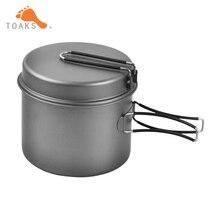 TOAKS Kochgeschirr Set Titan Topf 1600 ml Pfanne Faltbare Griff Tragbare Outdoor-geschirr Camping Pot Pan CKW-1600