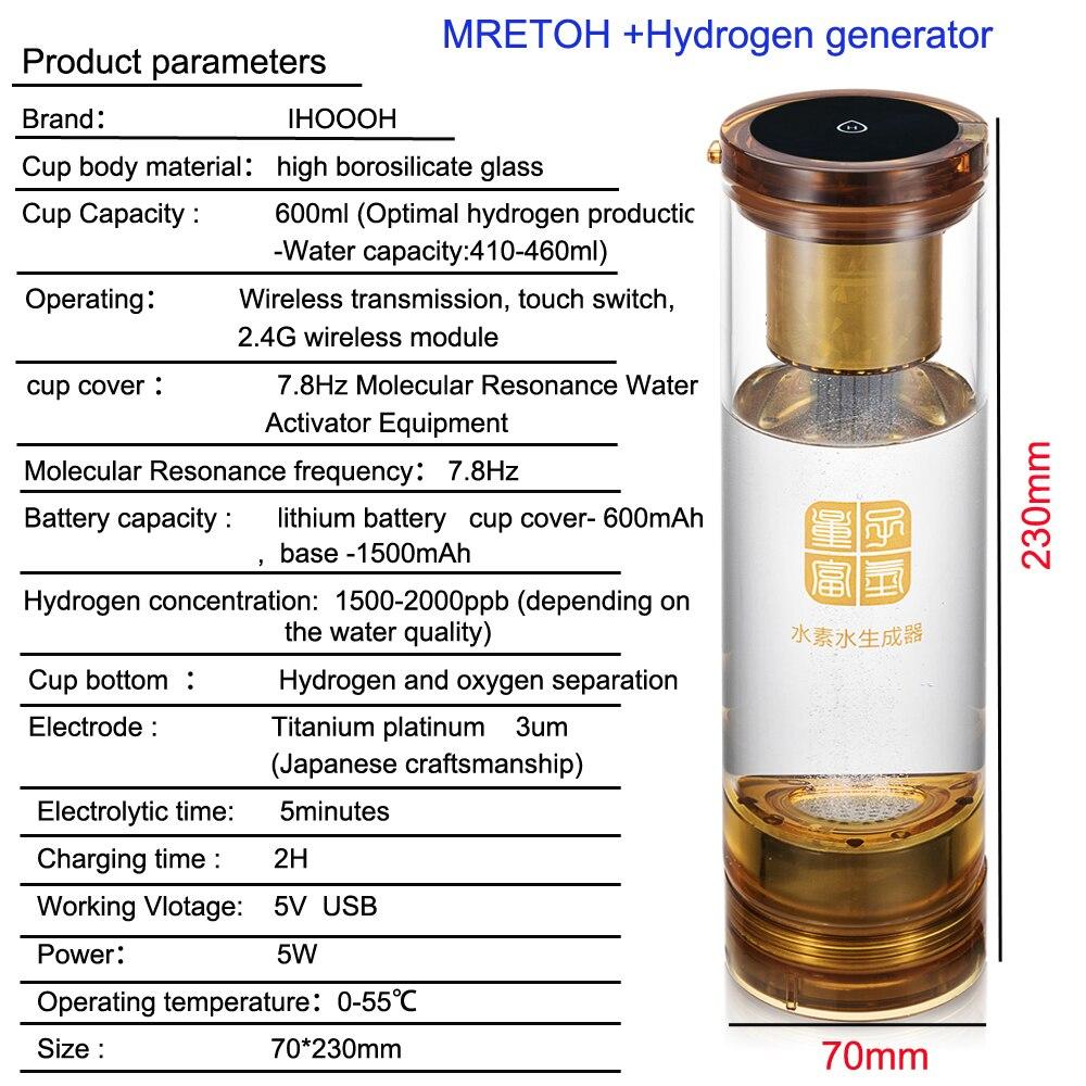 Hydrogen generator MRETOH/7.8Hz Molecular Resonance Effect Technology electrolysis  water Hydrogen and oxygen separation