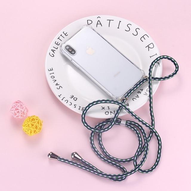 Pasek sznurek łańcuszek taśma telefoniczna naszyjnik smycz etui na telefon do torba pokrowiec powiesić iPhone 11 Pro XS Max XR X 7Plus 8Plus