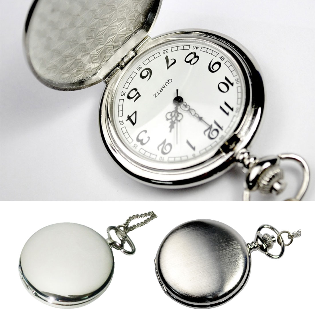 Casual Men And Women Young And Old Wild Table Retro Matte Quartz Black Silver Large Pocket Watch Classic Fashion Pocket Watch